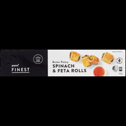 Pams Finest Spinach & Feta Sausage Rolls 400g